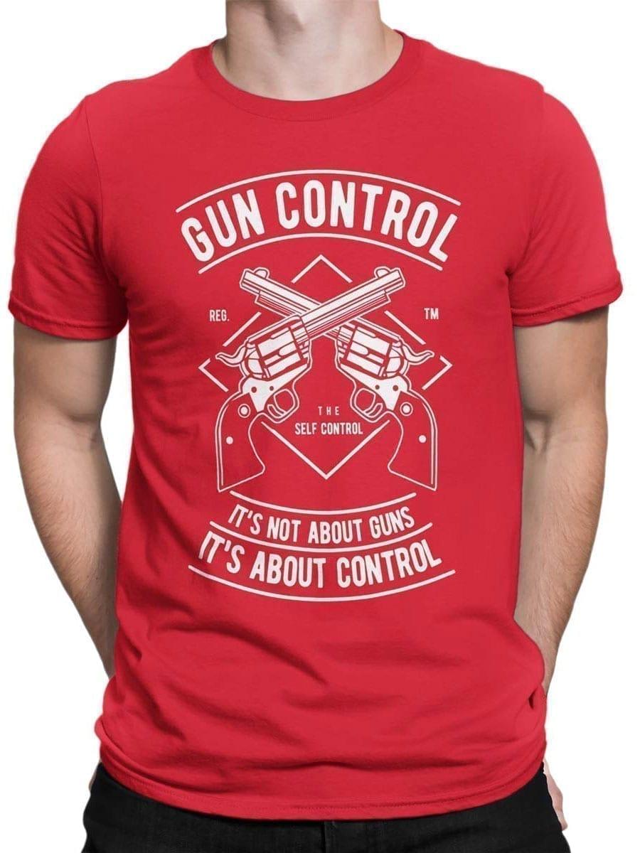 2031 Gun Control T Shirt Front Man