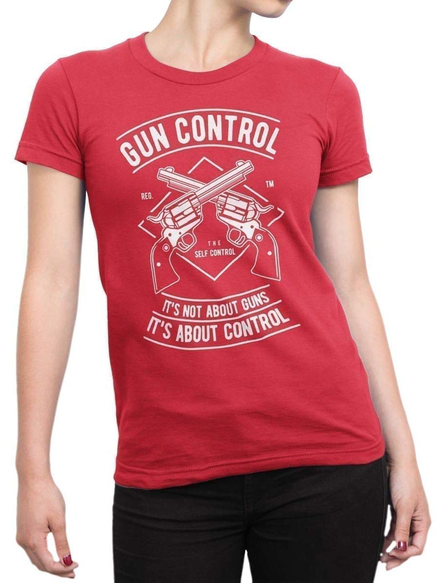 2031 Gun Control T Shirt Front Woman