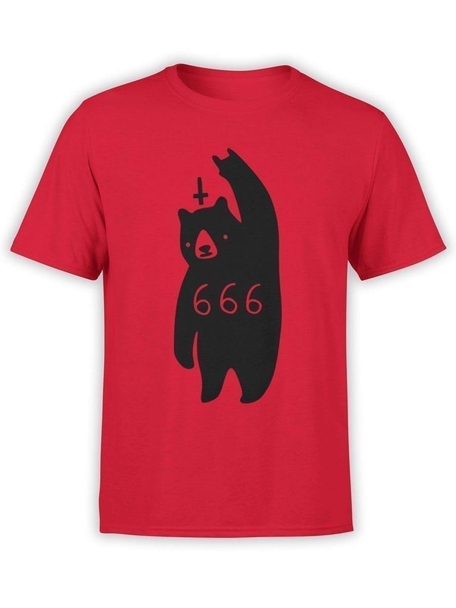 2032 Satan Bear T Shirt Front