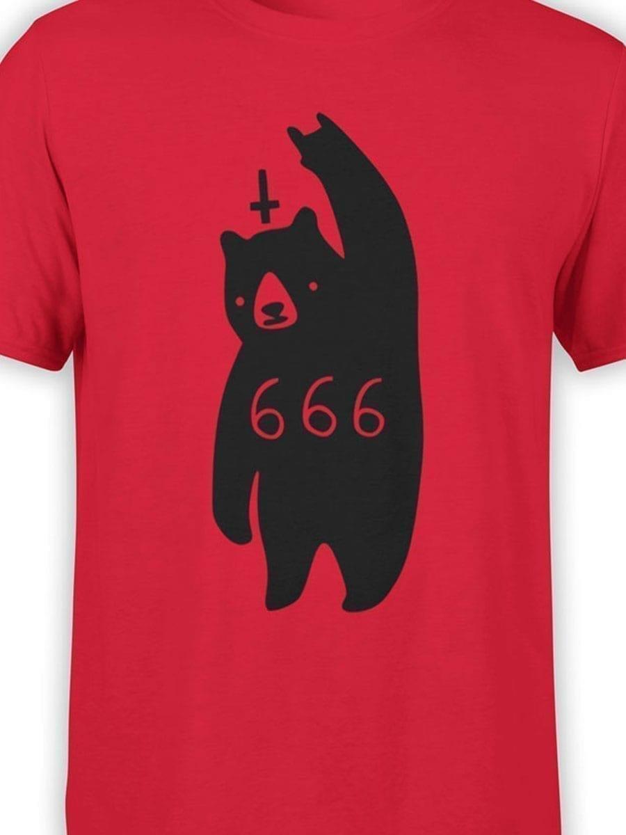 2032 Satan Bear T Shirt Front Color
