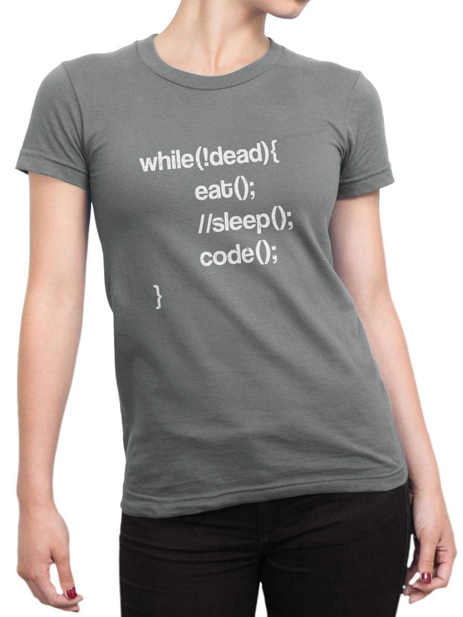 2035 Programmer T Shirt Front Woman