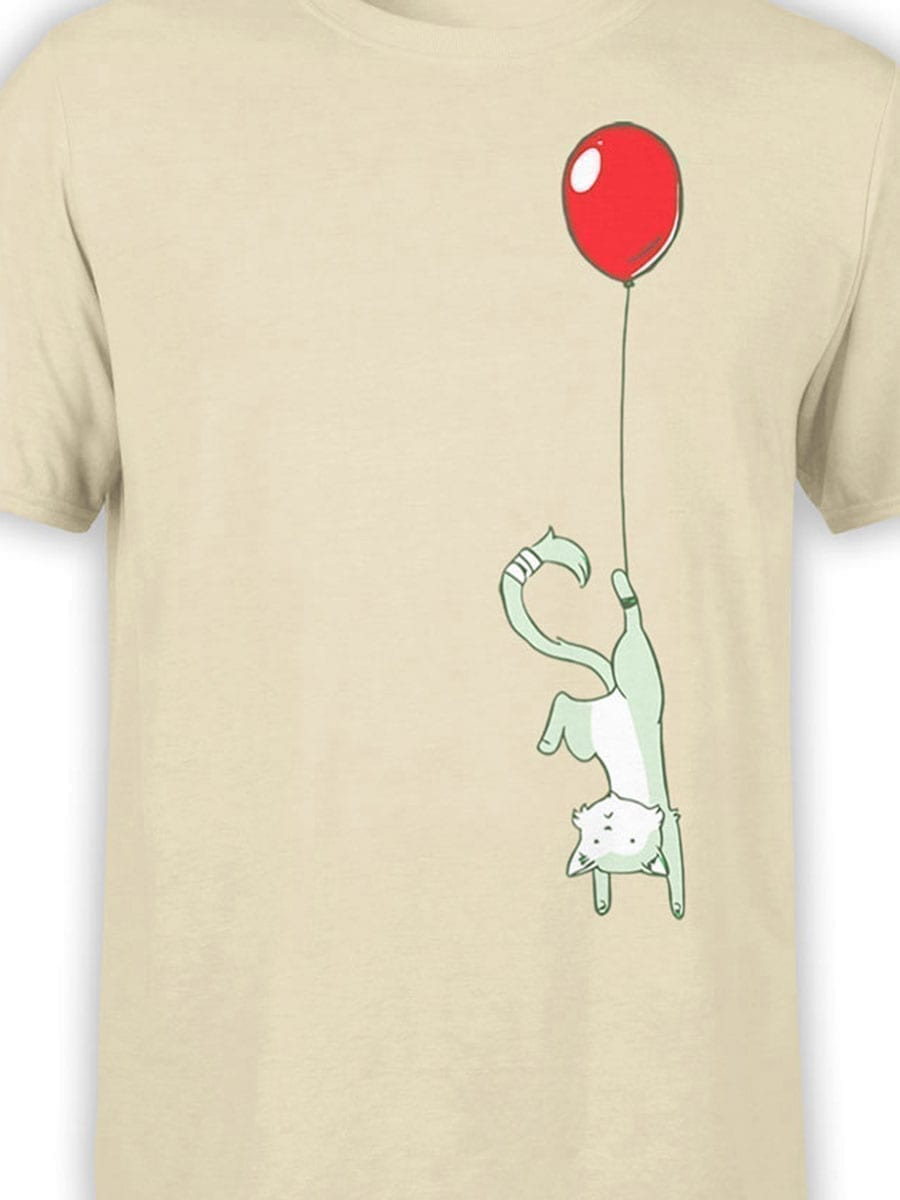 2040 Flying Cat T Shirt Front Color