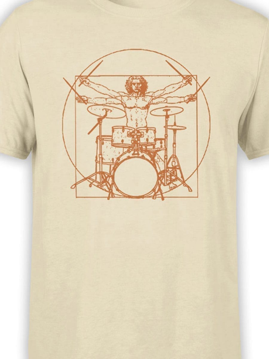 2042 Vitruvian Drumm T Shirt Front Color
