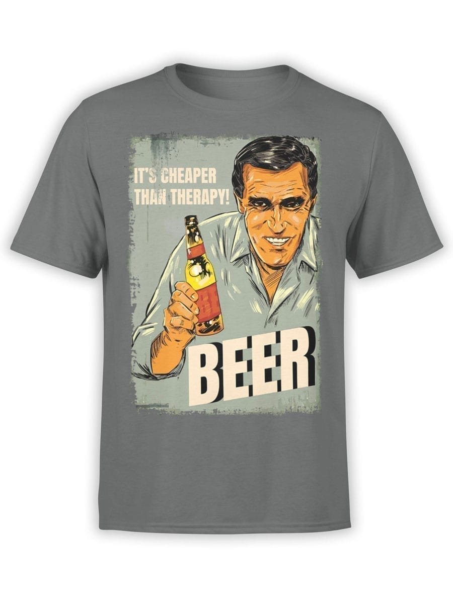 2046 Beer Therapy T Shirt Front