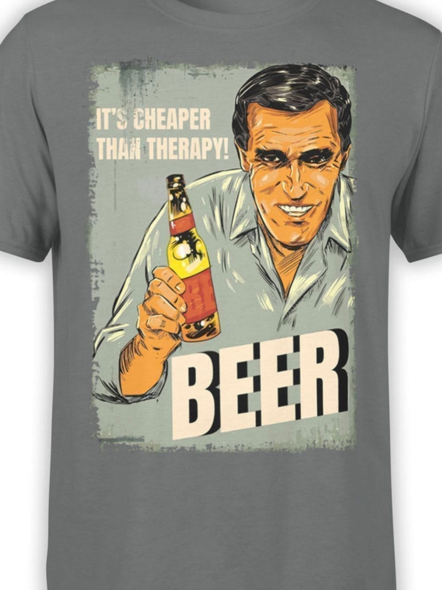 2046 Beer Therapy T Shirt Front Color