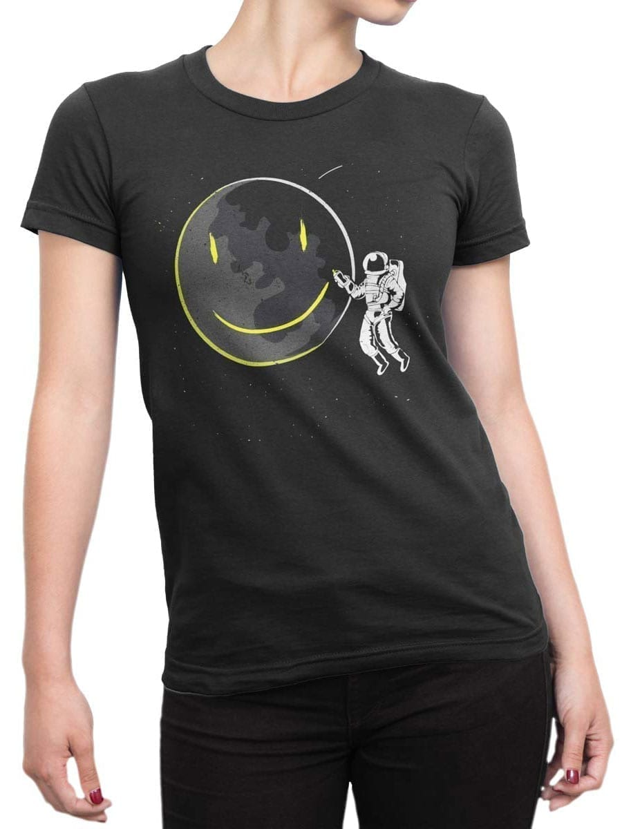 2049 Cosmo Smile T Shirt Front Woman