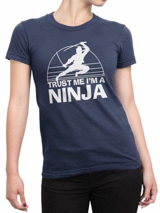 2056 Trust Ninja T Shirt Front Woman