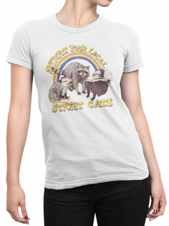 2058 Support T Shirt Front Woman