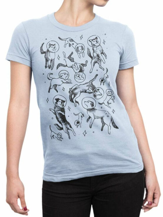 2060 Cosmo Dogs T Shirt Front Woman