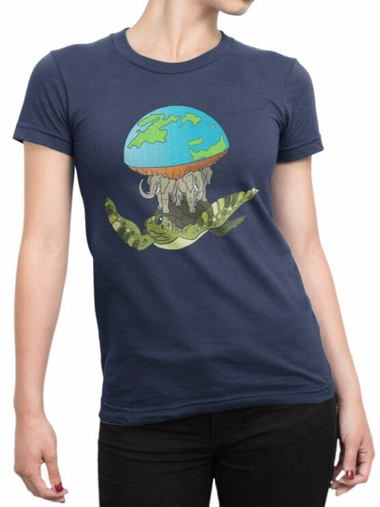 2065 Real Earth T Shirt Front Woman