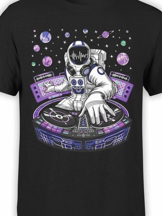 2069 AstroDJ T Shirt Front Color