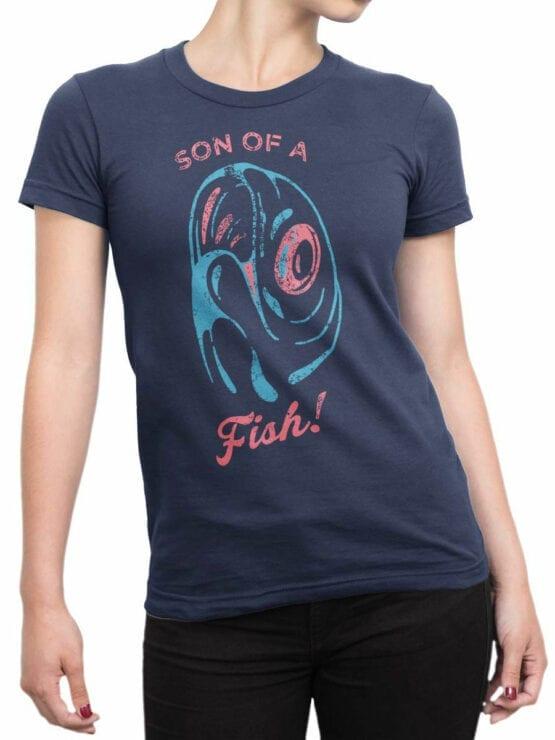 2070 Funny Fish T Shirt Front Woman