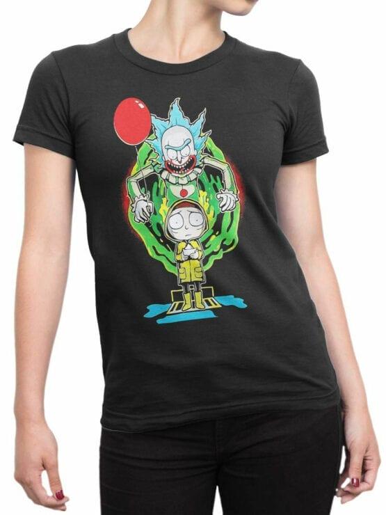 2071 Clown Rick T Shirt Front Woman