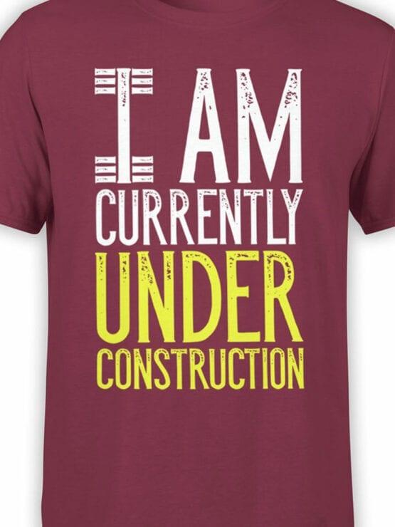 2072 Under Construction T Shirt Front Color