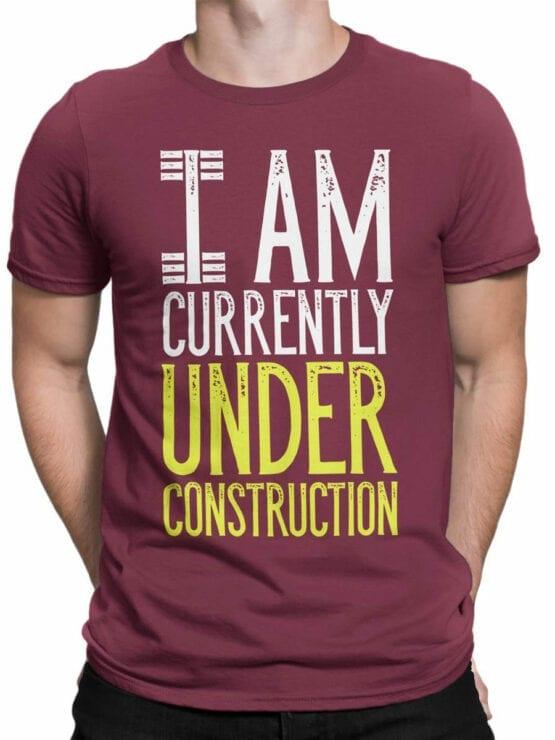 2072 Under Construction T Shirt Front Man