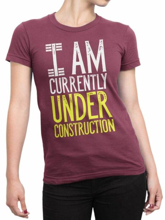 2072 Under Construction T Shirt Front Woman