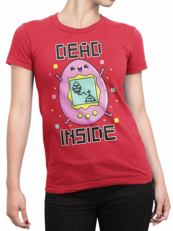 2077 Dead Inside T Shirt Front Woman