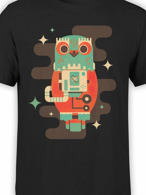2082 Cosmo Owl T Shirt Front Color