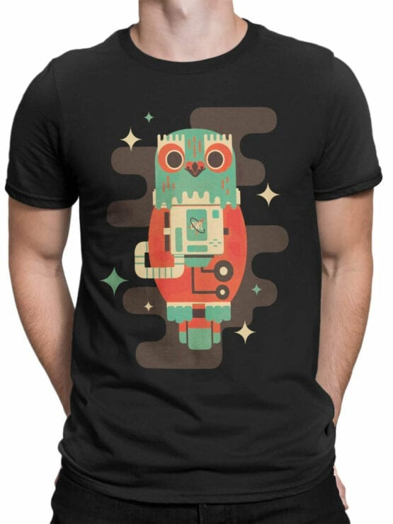 2082 Cosmo Owl T Shirt Front Man