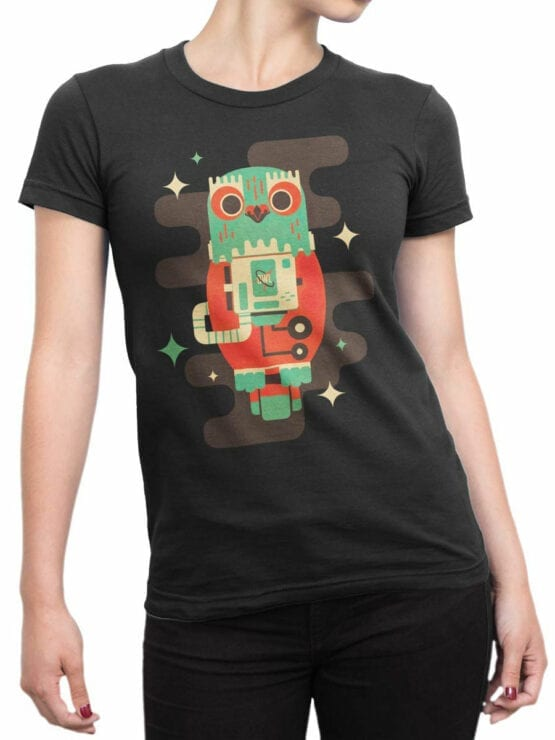 2082 Cosmo Owl T Shirt Front Woman