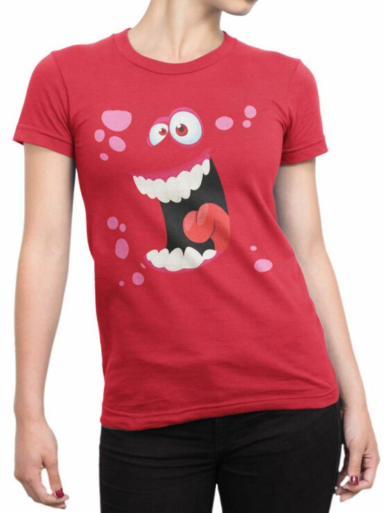 2086 Funny Face Monster T Shirt Front Woman