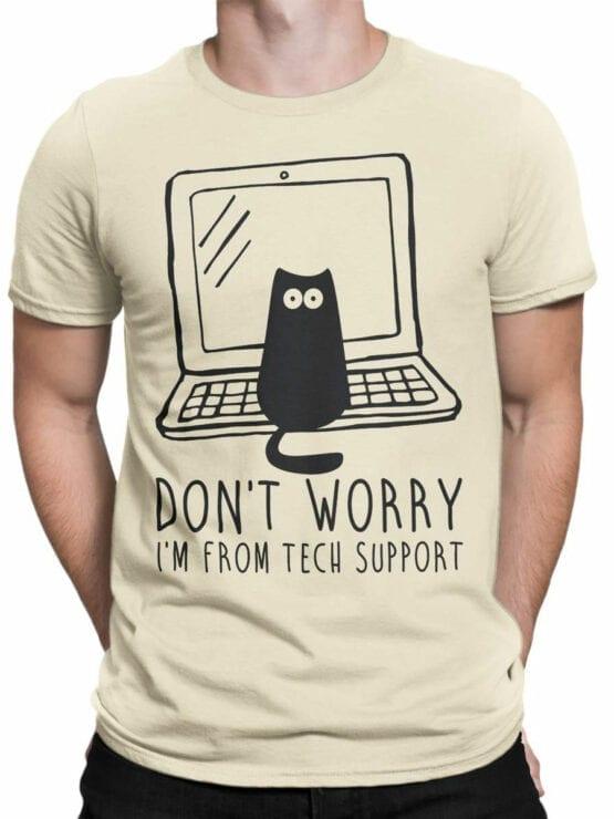 0687 Cat Shirts Tech Support Front Man