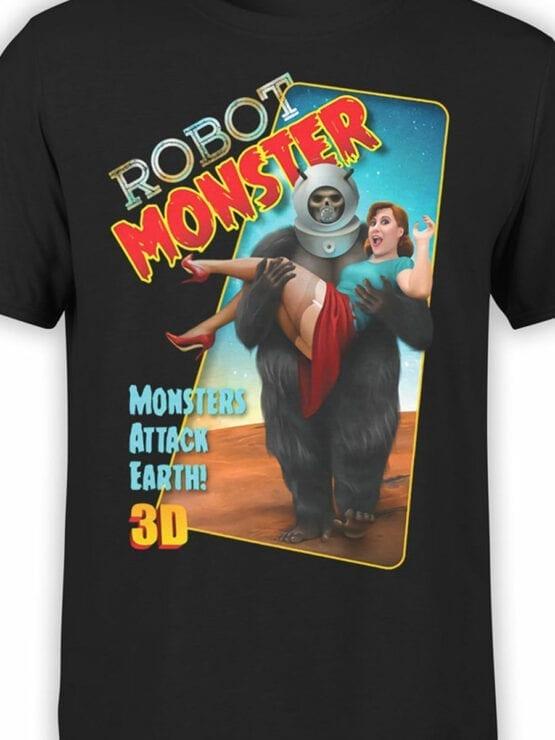0828 Retro Shirt RoboMonster Front Color