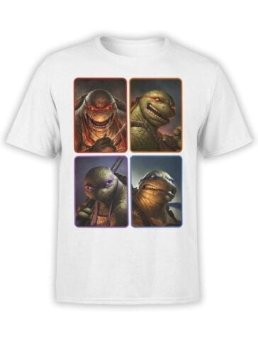 1827 Mutant Ninja Turtles T Shirt Front