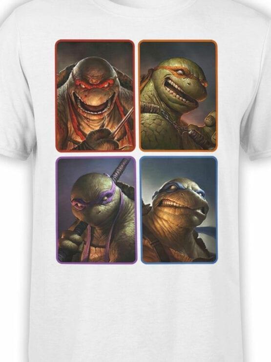 1827 Mutant Ninja Turtles T Shirt Front Color